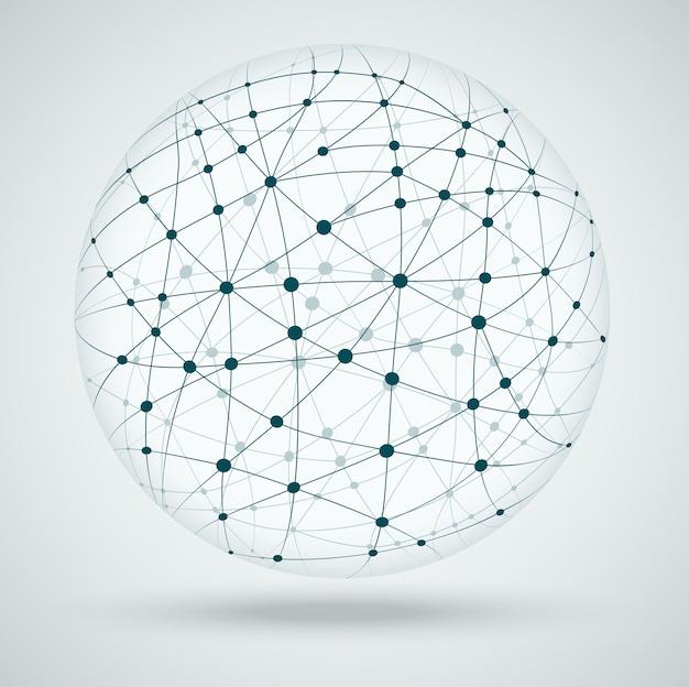 Netwerken wereldwijde verbindingen