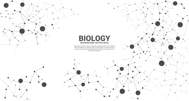 Netwerklijn dot molecuul achtergrond aansluiten. concept van biologiechemie en wetenschap.