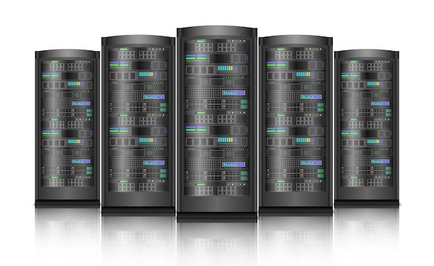 Netwerkservers computerhardware geïsoleerd