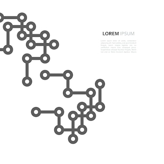 Netwerkverbinding minimale ontwerplijn en punt