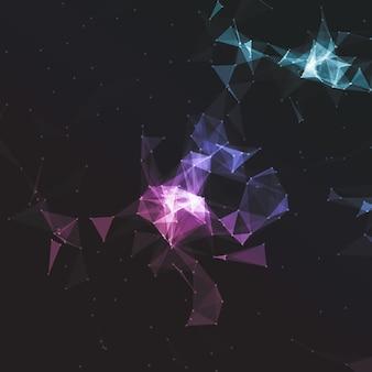 Netwerkverbindingen achtergrond met een laag poly-ontwerp