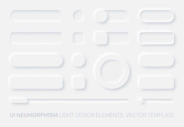 Neumorfe ontwerpelementen