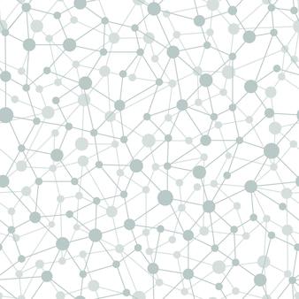 Neurale netwerk naadloos patroon. neurale netwerk van knooppunten en verbindingen. vectorillustratie op witte achtergrond