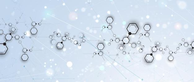 Neurale netwerkconcept. verbonden cellen met links. hoogtechnologisch proces. abstracte futuristische achtergrond