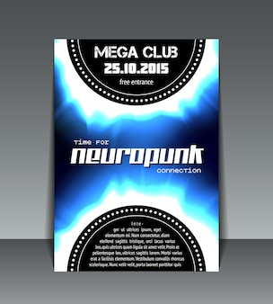 Neuropunk party flyer