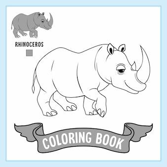 Neushoorn dieren rhino kleurplaten boek