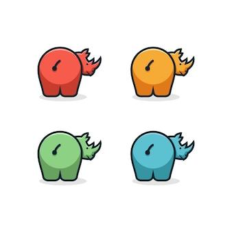 Neushoorn logo ontwerp