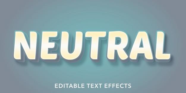 Neutrale bewerkbare tekststijleffecten