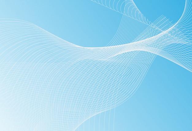 Neutrale blauwe dunne lijn golftextuur of patroon met strepen in minimale stijl voor webpagina's. trendy illustratie met golvende lijnen op lichtgrijs