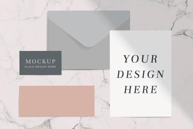 Neutrale kleurtoon envelop set