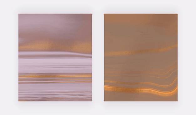 Neutrale vloeibare inkt met folie textuur schilderij abstracte achtergronden.
