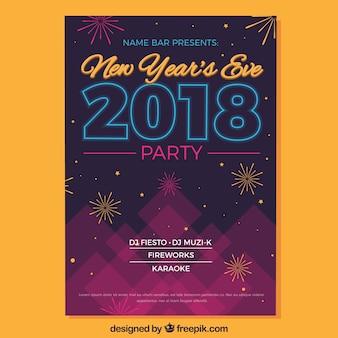 New year's eve 2018 feestvlieger