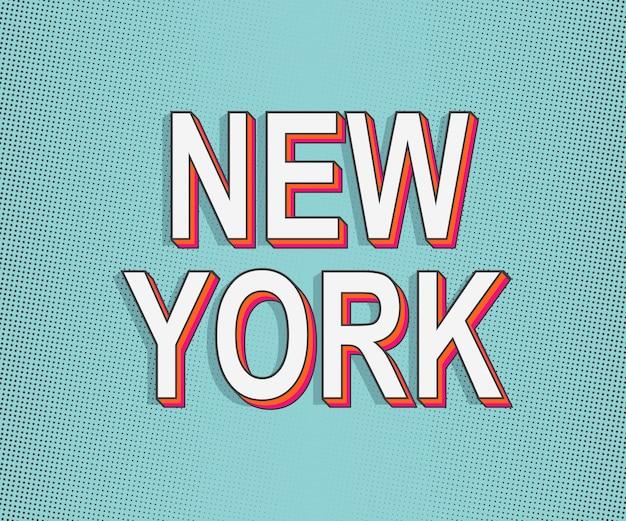 New york. america travel card.