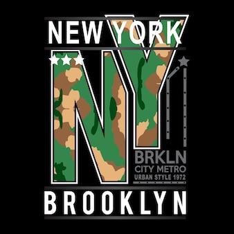 New york brooklyn typografie kinder t-shirt vector