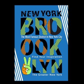 New york brooklyn typografie