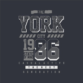 New york city gemoedstoestand grafische t-shirt typografie illustratie casual stijl