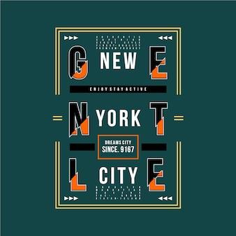 New york city grafisch ontwerp t-shirt