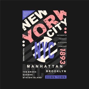 New york city grafische typografie illustratie voor print t-shirt