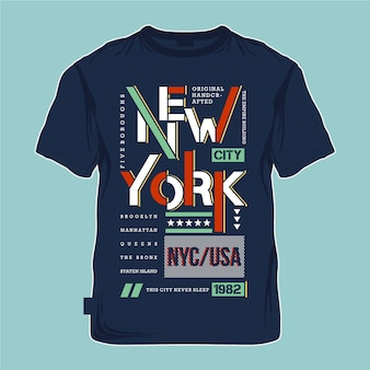 New york city grafische typografie t-shirt