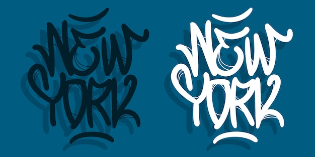 New york city nyc usa hand getrokken belettering design
