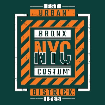 New york city tekstkader t-shirt typografie design