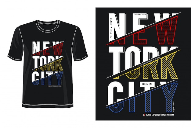 New york city typografie design t-shirt