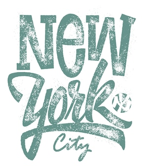 New york city typografie, print.