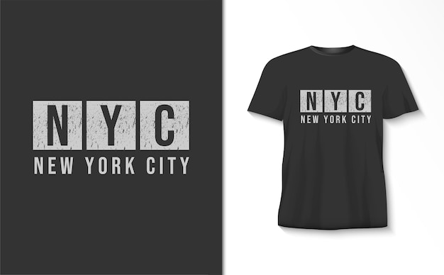 New york city typografie t-shirt Premium Vector