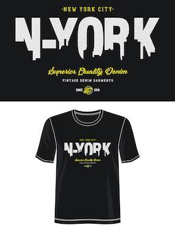 New york city typografie voor print t-shirt