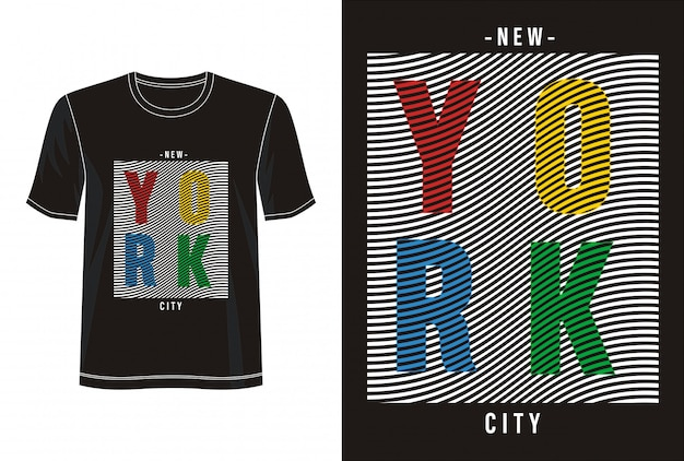 New york city typografie voor print t-shirt