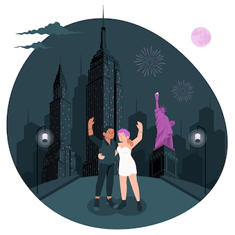 New york concept illustratie