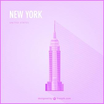 New york gratis mijlpaal illustratie