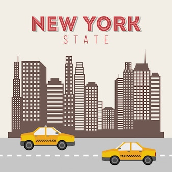 New york ontwerp over beige achtergrond vectorillustratie