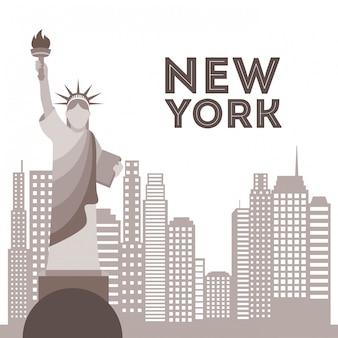 New york ontwerp over witte achtergrond vectorillustratie
