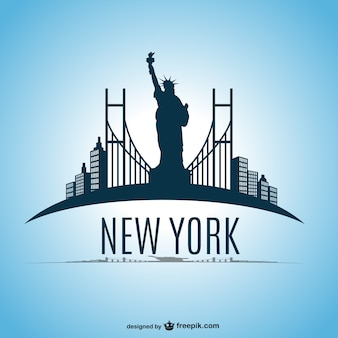 New york skyline vector design