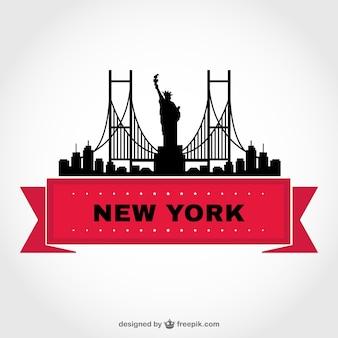 New york skyline vector sjabloon