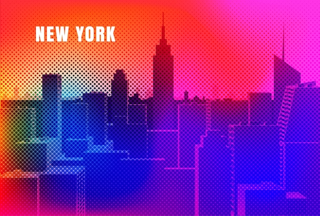 New york stadsgezicht ontwerp
