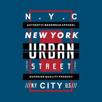 New york stedelijke straat ontwerp t-shirt