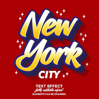 New york sticker lettertype effect