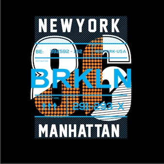 New york t-shirt grafische typografie kunst