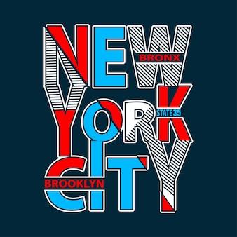New york typografie t-shirt afdrukken vector