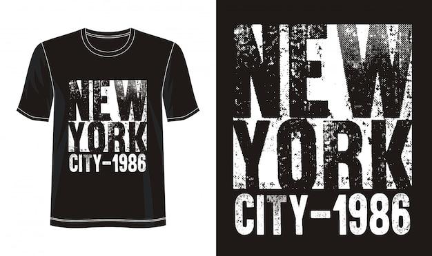 New york typografie voor print t-shirt