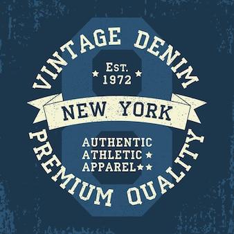 New york vintage grunge graphic voor tshirt origineel kledingontwerp