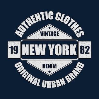 New york vintage merkafbeelding voor tshirt origineel kledingontwerp met grunge