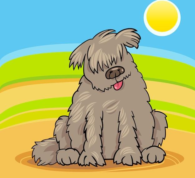 Newfoundland hond cartoon afbeelding