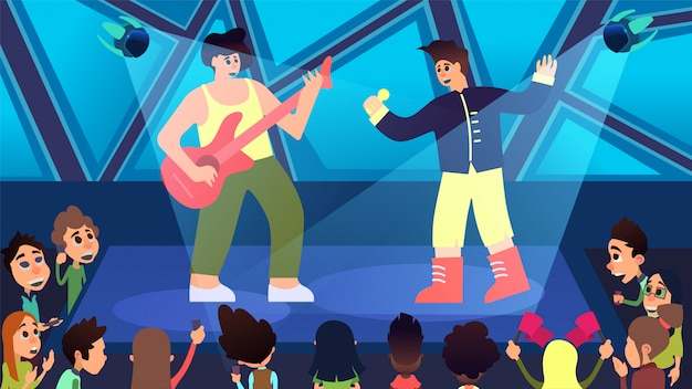 Next generation concert en party cartoon