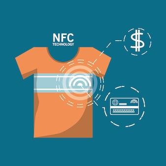 Nfc-betaling ontwerpconcept