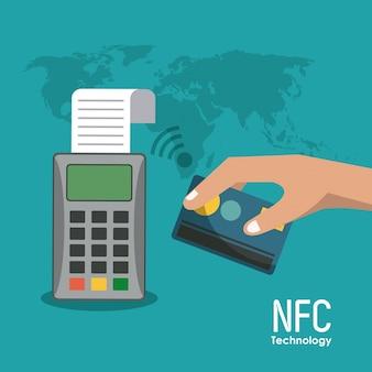 Nfc-technologiepictogrammen