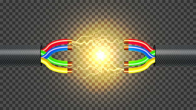 Niet aangesloten elektrische kabel