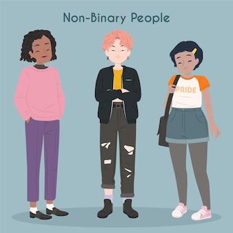 Niet-binaire mensencollectie